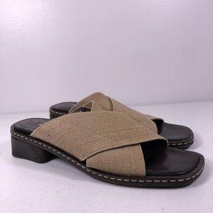 Donald J Pliner Square Toe Mule Sandal Shoes
